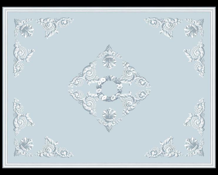 Plafond à couronne fleurie