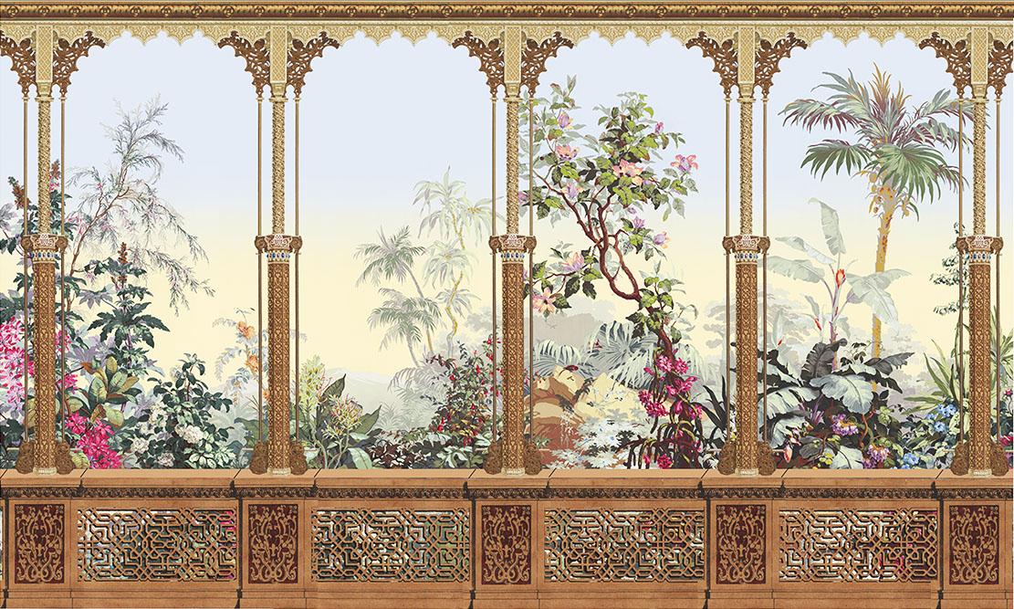 Décor Alhambra avec montage