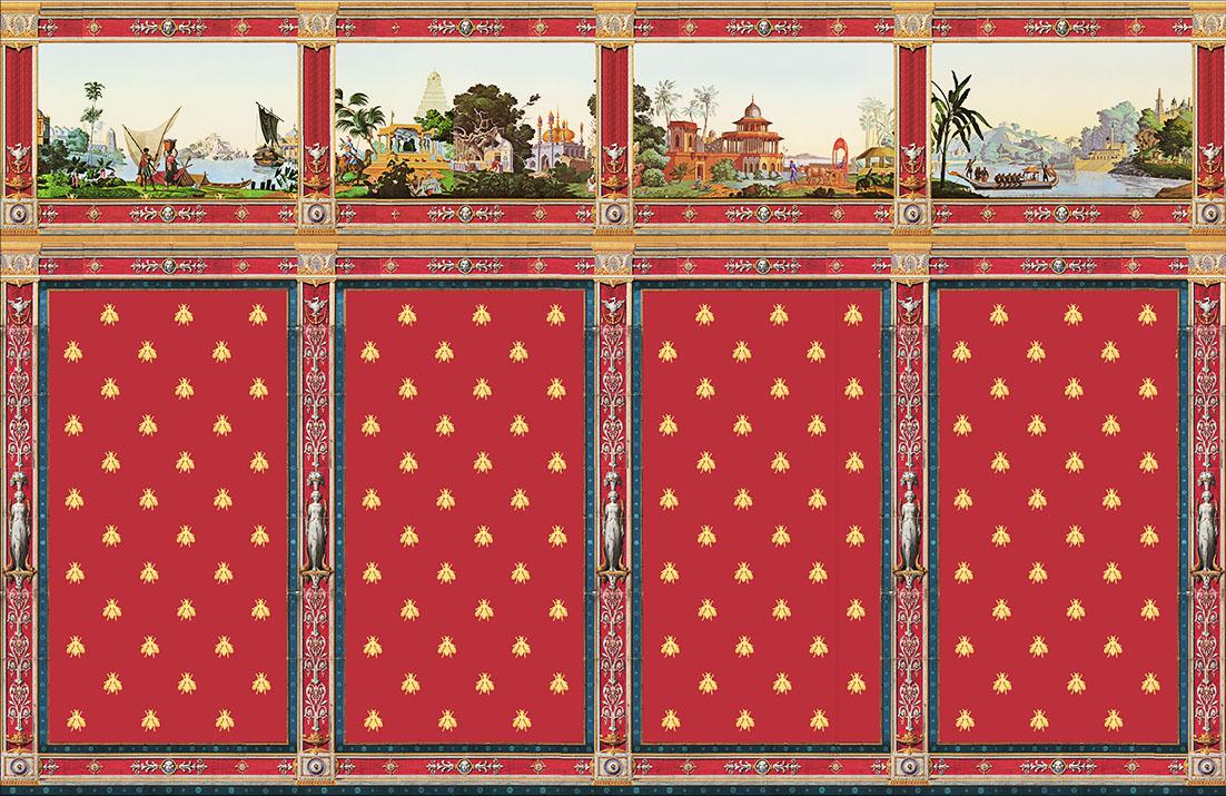 Décor Pompeï avec frise panoramique