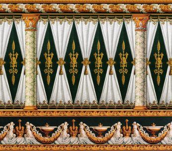 Décor directoire avec draperie 1804