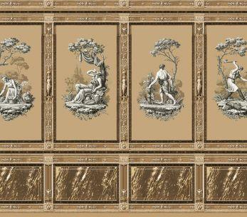 Les mois de Evoliste avec décor Pompei en sépia