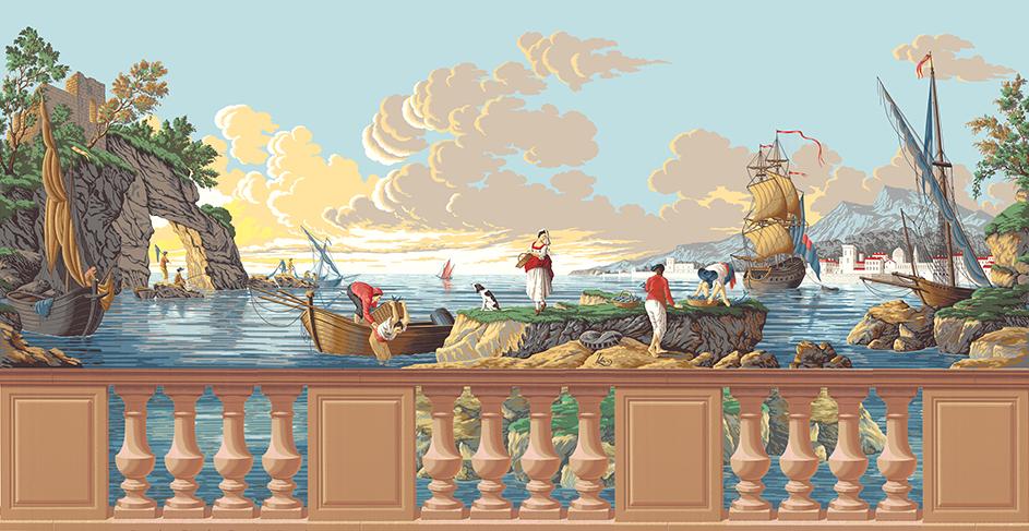 Golfo di Napoli avec soubassement au raccord