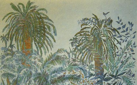 Celadon on gold background