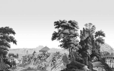 La guerre de l'indépendance américaine (monochrome): complete scenery