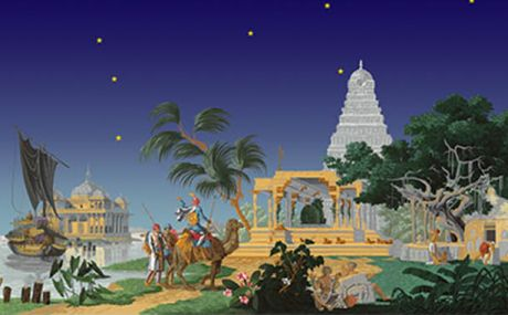The Hindustan (starry sky): complete scenery