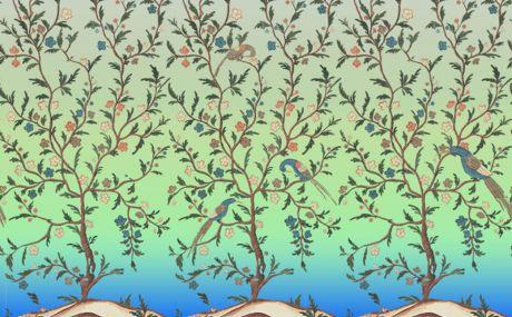Dégradé turquoise