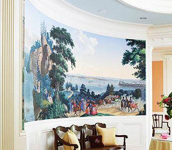 Décor panoramique '' Les vues de l'Amérique du Nord ''