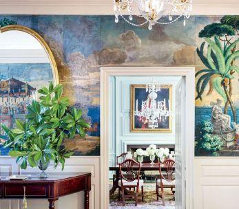 Scenic wallpaper '' Paysages de Télémaque dans l'île de Calypso ''